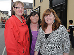 Lara Burton Cassidy, Patricia Cassidy and Barbara Delaney pictured at the Ardee Beat on the Street. Photo: Colin Bell/pressphotos.ie