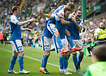 Celtic v St Johnstone &hellip;26.08.17&hellip; Celtic Park&hellip; SPFL<br />Steven MacLean is mobbed by his teammates as he celebrates his goal<br />Picture by Graeme Hart.<br />Copyright Perthshire Picture Agency<br />Tel: 01738 623350  Mobile: 07990 594431
