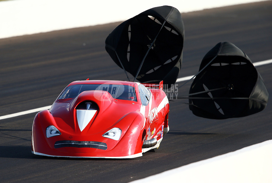 Aug. 30, 2013; Clermont, IN, USA: NHRA pro mod driver Harold Martin during qualifying for the US Nationals at Lucas Oil Raceway. Mandatory Credit: Mark J. Rebilas-