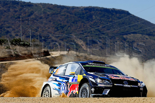 06.03.2016. Leon, Mexico. WRC Rally of Mexico, final stage.  Andreas Mikkelsen (NOR) – Anders Jaeger (NOR) - Volkswagen Polo R WRC
