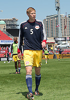 April 27, 2013: New York Red Bulls defender Markus Holgersson #5 in action during the warm-up in a game between Toronto FC and the New York Red Bulls at BMO Field  in Toronto, Ontario Canada..The New York Red Bulls won 2-1.
