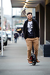 WELLINGTON, NEW ZEALAND - July 20:  Industrial Designer Dylan Mulder July 20, 2015 in Te Aro, Wellington, New Zealand.  REAL PEOPLE.  (Photo by Mark Tantrum/ real-people.co.nz)