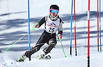 LEAD, SD - JANUARY 31, 2016 -- Gracie Carisch works through the slalom in the U14 category during the 2016 USSA Northern Division Ski Races at Terry Peak Ski Area near Lead, S.D. Sunday. (Photo by Richard Carlson/dakotapress.org)