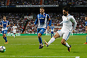 1st October 2017, Santiago Bernabeu, Madrid, Spain; La Liga football, Real Madrid versus Espanyol; Francisco Roman Alarcon (22) Real Madrid shown scoring his teams goal