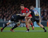 Saracens' Alex Lewington in action during todays match<br /> <br /> Photographer Bob Bradford/CameraSport<br /> <br /> Gallagher Premiership Round 10 - Exeter Chiefs v Saracens - Saturday 22nd December 2018 - Sandy Park - Exeter<br /> <br /> World Copyright © 2018 CameraSport. All rights reserved. 43 Linden Ave. Countesthorpe. Leicester. England. LE8 5PG - Tel: +44 (0) 116 277 4147 - admin@camerasport.com - www.camerasport.com