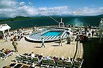 Cruising, Cruise, Alaska, pool and deck on the ship Westerdam.  Photo cruala105  .Photo copyright Lee Foster, 510/549-2202,.lee@fostertravel.com, www.fostertravel.com