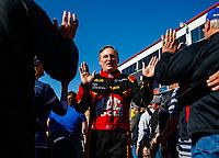 Feb 25, 2018; Chandler, AZ, USA; NHRA top fuel driver Doug Kalitta during the Arizona Nationals at Wild Horse Pass Motorsports Park. Mandatory Credit: Mark J. Rebilas-USA TODAY Sports