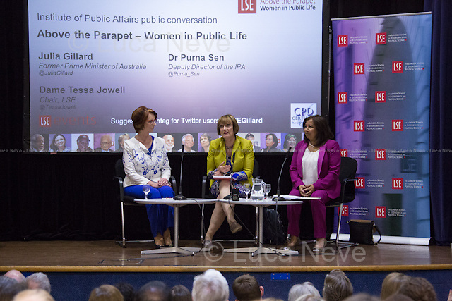 (From L to R) Julia Gillard, Tessa Jowell &amp; Purna Sen.<br />