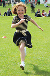 Holly Boyle running in the under 8 race at the O'Raghalligh's sports day. Photo: www.pressphotos.ie