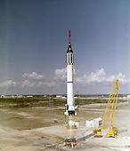 Cape C anaveral, FL - (FILE) -- Astronaut Alan B. Shepard, Jr. lifts off in the Freedom 7 Mercury spacecraft on May 5, 1961. This third flight of the Mercury-Redstone (MR-3) vehicle, developed by Dr. Wernher von Braun and the rocket team in Huntsille, Alabama, was the first marned space mission for the United States. During the 15-minute suborbital flight, Shepard reached an altitude of 115 miles and traveled 302 miles downrange..Credit: NASA via CNP
