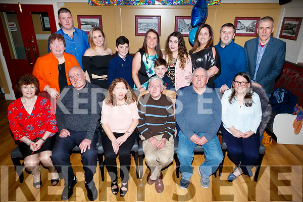 Joe Corrigan, O'Rahilly's Villas, Tralee, who celebrated his 70th birthday, at the Brogue Inn, Tralee, Brid Harnett, Noel Fitzgerald, Helen Corrigan, Joe Corrigan, Leo Corrigan and  Shanna Corrigan. Back l-r: Joan Corrigan, Tom Radley, Amy Lynch, Ben Lynch, Gillian Lynch, Shea Lynch, Maisie Corrigan, Sarah Lynch, Jason Lynch and Todd Small.
