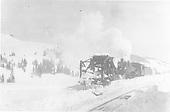 K-27 #461 pushing Jordan spreader OU at Cumbres.<br /> D&amp;RG  Cumbres, CO  Taken by Lively, Charles R.