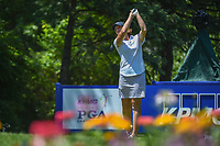 Juli Inkster (USA) watches her tee shot on 13 during round 2 of the 2018 KPMG Women's PGA Championship, Kemper Lakes Golf Club, at Kildeer, Illinois, USA. 6/29/2018.<br /> Picture: Golffile | Ken Murray<br /> <br /> All photo usage must carry mandatory copyright credit (© Golffile | Ken Murray)