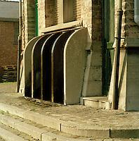 April 1991. Eilandje in Antwerpen.