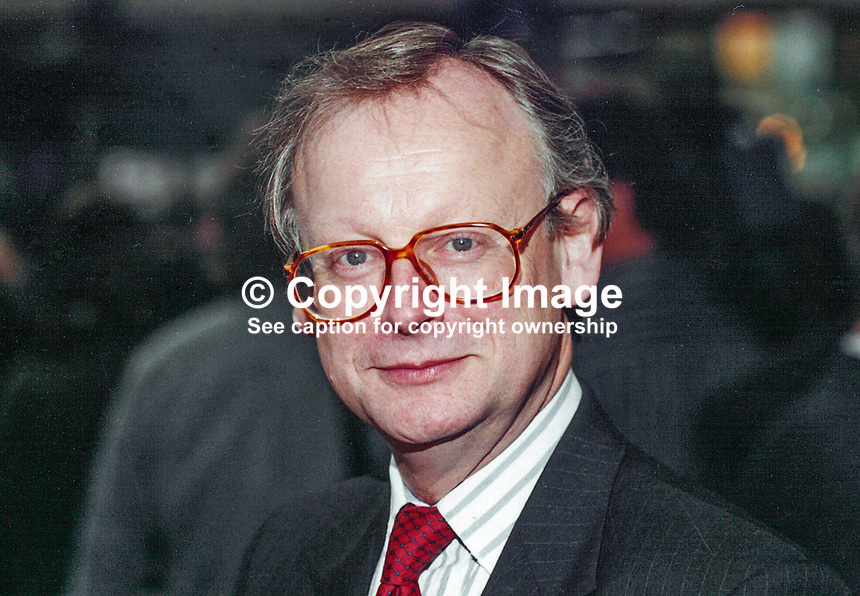 John Selwyn Gummer, MP, Conservative Party, Britain, UK, Westminster Parliament, 19951003/JSG/2.<br /> <br /> Copyright Image from Victor Patterson, 54 Dorchester Park, Belfast, UK, BT9 6RJ<br /> <br /> t1: +44 28 9066 1296 (from Rep of Ireland 048 9066 1296)<br /> t2: +44 28 9002 2446 (from Rep of Ireland 048 9002 2446)<br /> m: +44 7802 353836<br /> <br /> e1: victorpatterson@me.com<br /> e2: victorpatterson@gmail.com<br /> <br /> The use of any of my copyright images is subject to my Terms &amp; Conditions. It is IMPORTANT that you familiarise yourself with them. They are available at my website, victorpatterson.com.<br /> <br /> None of my copyright images may be used on the Internet unless they are visibly watermarked, i.e. &copy; Victor Patterson within the body of the image. My metadata, denoting my copyright must NOT be deleted. <br /> <br /> Web use is extra at currently recommended NUJ rates. Maximum permitted web size is<br />  400kb. <br /> <br /> Images must not be passed on to a third party - they are for the use of the authorised recipient only.