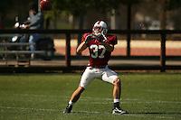 9 April 2007: Mark Mueller during spring practice in Stanford, CA.