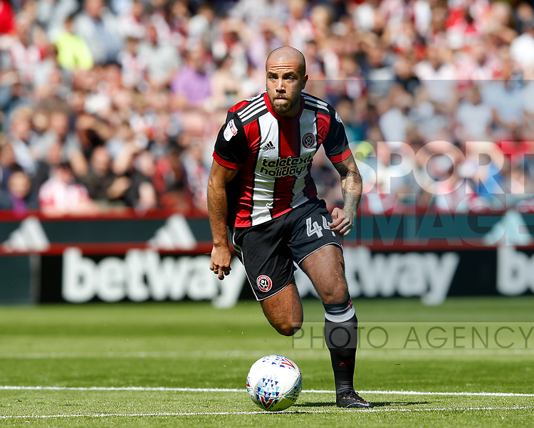 Samir Carruthers of Sheffield Utd during the English Championship League match at Bramall Lane Stadium, Sheffield. Picture date: August 5th 2017. Pic credit should read: Simon Bellis/Sportimage