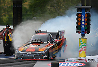 Jun 19, 2015; Bristol, TN, USA; NHRA funny car driver Alexis DeJoria during qualifying for the Thunder Valley Nationals at Bristol Dragway. Mandatory Credit: Mark J. Rebilas-
