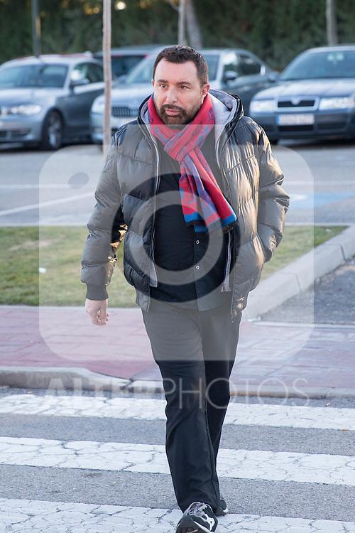 Jose Manuel Parada arrived to the wake of Bimba Bose at the La Paz tannery in Madrid. Spain. January 24th 2017. (ALTERPHOTOS/Rodrigo Jimenez)