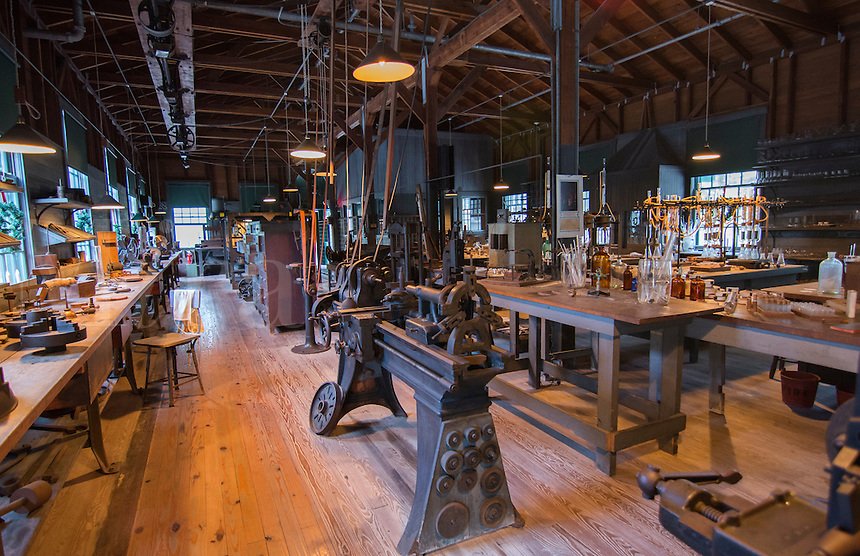 Thomas Edison inventor home and museum in Ft Myers Florida inventions room electrical lab