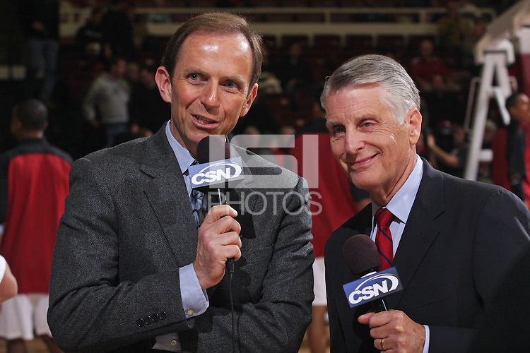 STANFORD, CA - DECEMBER 17:  The media during Stanford's 66-57 win over Northern Arizona on December 17, 2008 at Maples Pavilion in Stanford, California.