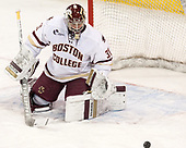 Joe Woll (BC - 31) - The Boston College Eagles defeated the University of Vermont Catamounts 7-4 on Saturday, March 11, 2017, at Kelley Rink to sweep their Hockey East quarterfinal series.The Boston College Eagles defeated the University of Vermont Catamounts 7-4 on Saturday, March 11, 2017, at Kelley Rink to sweep their Hockey East quarterfinal series.