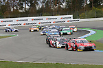 05.10.2019, Hockenheimring, Hockenheim, DTM 2019, Hockenheimring,04.10. - 06.10.2019 , im Bild<br />Rennstart:<br />Rene Rast (DEU#33), Audi Sport Team Rosberg, Mike Rockenfeller (DEU#99), Audi Sport Team Phoenix, Marco Wittmann (DEU#11), BMW Team RMG, Loic Duval (FRA#28), Audi Sport Team Phoenix, Jonathan Aberdein (ZAF#27), WRT Team Audi Sport, Nico Müller (CHE#51), Audi Sport Team Abt Sportsline, Jenson Button (GBR#1), Team Kunimitsu Honda, Timo Glock (DEU#16), BMW Team RMR<br /> <br /> Foto © nordphoto / Bratic