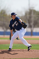 Milwaukee Brewers starting pitcher Dylan File (93) during a Minor League Spring Training game against the Kansas City Royals at Maryvale Baseball Park on March 25, 2018 in Phoenix, Arizona. (Zachary Lucy/Four Seam Images)