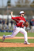 February 28, 2010:  Pitcher Jonny Hoffman of the Indiana Hoosiers during the Big East/Big 10 Challenge at Raymond Naimoli Complex in St. Petersburg, FL.  Photo By Mike Janes/Four Seam Images