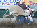 J.D. Struxness won the night's Steer Wrestling event during the Reno Rodeo on Sunday, June 23, 2019.