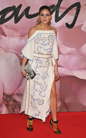 Olivia Palermo at the Fashion Awards 2016, Royal Albert Hall, Kensington Gore, London, England, UK, on Monday 05 December 2016. <br /> CAP/CAN<br /> ©CAN/Capital Pictures /MediaPunch ***NORTH AND SOUTH AMERICAS ONLY***