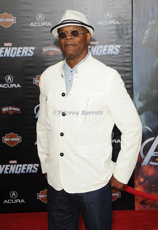 Samuel L. Jackson at the premiere of Marvel's The Avengers, held at El Capitan Theatre in Hollywood,  CA. April 11, 2012