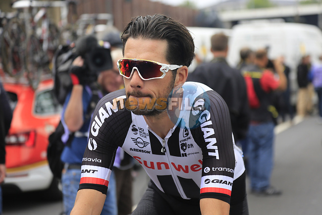 Roy Curvers (NED) Team Sunweb at sign on in Dusseldorf before the start of Stage 2 of the 104th edition of the Tour de France 2017, running 203.5km from Dusseldorf, Germany to Liege, Belgium. 2nd July 2017.<br /> Picture: Eoin Clarke | Cyclefile<br /> <br /> <br /> All photos usage must carry mandatory copyright credit (&copy; Cyclefile | Eoin Clarke)