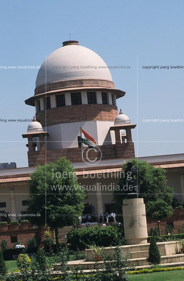 INDIA, supreme court in New Delhi / INDIEN, Supreme Court das oberste indische Gericht in Hauptstadt Neu Delhi