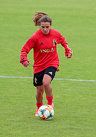 20200605 - TUBIZE , Belgium : Davina Philtjens dribbles during a training session of the Belgian national women's soccer team called the Red Flames during their after Corona – Covid training week, on the 5 th of June 2020 in Tubize.  PHOTO SEVIL OKTEM| SPORTPIX.BE