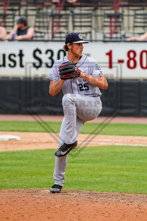 Kane County Cougars pitcher Kevin Ginkel (25) during a Midwest League game against the Wisconsin Timber Rattlers on June 11, 2017 at Fox Cities Stadium in Appleton, Wisconsin.  Kane County defeated Wisconsin 6-4. (Brad Krause/Krause Sports Photography)
