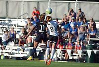 Kansas City, MO - Saturday July 16, 2016: Frances Silva, Victoria Huster during a regular season National Women's Soccer League (NWSL) match between FC Kansas City and the Washington Spirit at Swope Soccer Village.