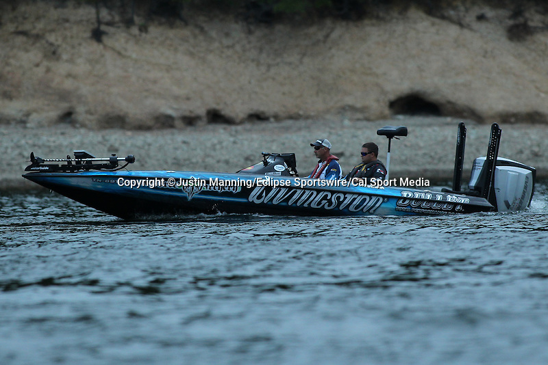 August 21, 2015: Andy Morgan before day two of the Forrest Wood Cup on Lake Ouachita in Hot Springs, AR. Justin Manning/ESW/CSM