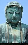 Kamakura Daibutsu Close Portrait, Great Buddha of Kamakura, Amida Nyorai, Kotoku-in, Kamakura, Japan