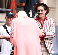 NEW YORK, NY-July 16: Jake Gyllenhaal, Tida Swinton shooting on location for Netflix & Plan B Enterainment  film Okja in New York. NY July 16, 2016. Credit:RW/MediaPunch