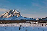 Mount Sukakpak, and the Trans Alaska pipeline, Brooks range, arctic, Alaska.