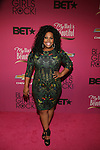 "Glee Actress Amber Riley Wearing a Rachel Roy dress Attends ""BLACK GIRLS ROCK!"" Honoring legendary singer Patti Labelle (Living Legend Award), hip-hop pioneer Queen Latifah (Rock Star Award), esteemed writer and producer Mara Brock Akil (Shot Caller Award), tennis icon and entrepreneur Venus Williams (Star Power Award celebrated by Chevy), community organizer Ameena Matthews (Community Activist Award), ground-breaking ballet dancer Misty Copeland (Young, Gifted & Black Award), and children's rights activist Marian Wright Edelman (Social Humanitarian Award) Hosted By Tracee Ellis Ross and Regina King Held at NJ PAC, NJ"