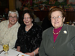 Peggy Carpenter, Mary Donegan and Sheila Rafferty pictured at Collon senior citizens christmas party at Watters lounge. Photo:Colin Bell/pressphotos.ie