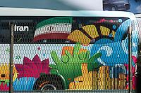 GUARULHOS, SP, 09.06.2014 - COPA 2014 - ONIBUS IRA - Onibus com jogadores da selecao iraniana é visto  na Rodovia Helio Smidt sentido São Paulo em Guarulhos na manha desta segunda-feira, 09.  A equipe tem treino marcado nesta manhã para o Centro de Treinamento Joaquim Grava. (Foto: William Volcov / Brazil Photo Press).