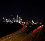 Charlotte NC Skyline At Night