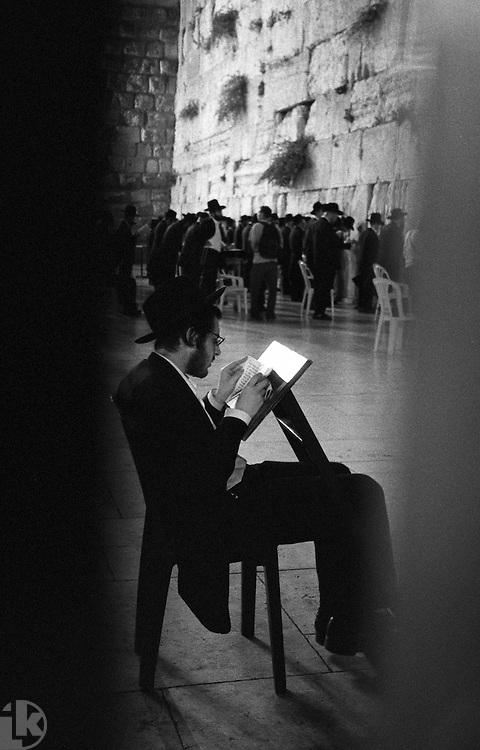 Wailing Wall, evening prayer