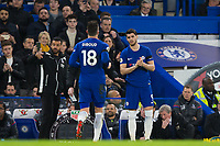 Chelsea's Olivier Giroud is replaced by Chelsea's Alvaro Morata <br /> <br /> Photographer Craig Mercer/CameraSport<br /> <br /> The Premier League - Chelsea v Crystal Palace - Saturday 10th March 2018 - Stamford Bridge - London<br /> <br /> World Copyright &copy; 2018 CameraSport. All rights reserved. 43 Linden Ave. Countesthorpe. Leicester. England. LE8 5PG - Tel: +44 (0) 116 277 4147 - admin@camerasport.com - www.camerasport.com
