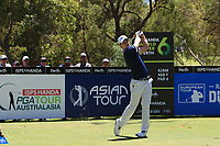 Andrea Pavin (ITA) in action on the 2nd during Round 3 of the ISPS Handa World Super 6 Perth at Lake Karrinyup Country Club on the Saturday 10th February 2018.<br /> Picture:  Thos Caffrey / www.golffile.ie<br /> <br /> All photo usage must carry mandatory copyright credit (&copy; Golffile | Thos Caffrey)