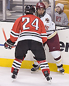 Denis Chisholm, Stephen Gionta - The Boston College Eagles defeated the Northeastern University Huskies 5-2 in the opening game of the 2006 Beanpot at TD Banknorth Garden in Boston, MA, on February 6, 2006.