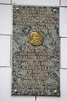 Europe/Pologne/Lublin: Plaque à la mémoire de Stéfan Wyszynski